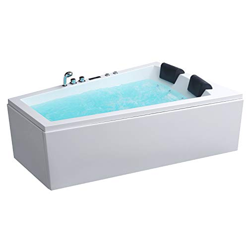 AWT Whirlpool GE105E mit Acryl-Schürze 180x130/links