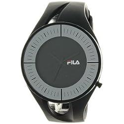Fila Unisex Black Dial Watch FL38011004 with PU Strap
