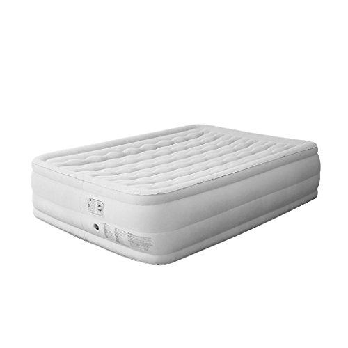Yhz@ Doppeltes aufblasbares Bett, erstklassiges beflocktes aufblasbares Komfort-Luft-Bett Schnelles Inflation-kampierendes Zelt im Freien Tragbare Luftmatratze mit eingebauter elektrischer Pumpe Luf