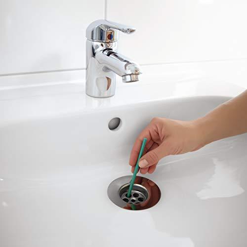 EASYmaxx Bâtonnets de nettoyage avec parfum de pomme fraîche | Bâtonnets de nettoyage pour évier, douche ou lavabo, 1 bâton suffit pour 1 mois de parfum frais [Lot de 50]