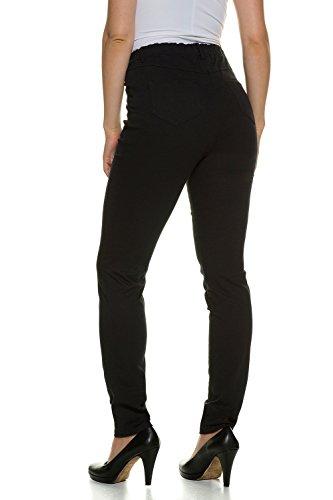 GINA LAURA Große Größen Damen bis Größe 48 | Basic-Jeans | Slim-Fit | bequemer Stretch-Bund | normale Leibhöhe | schwarz |707957 Schwarz