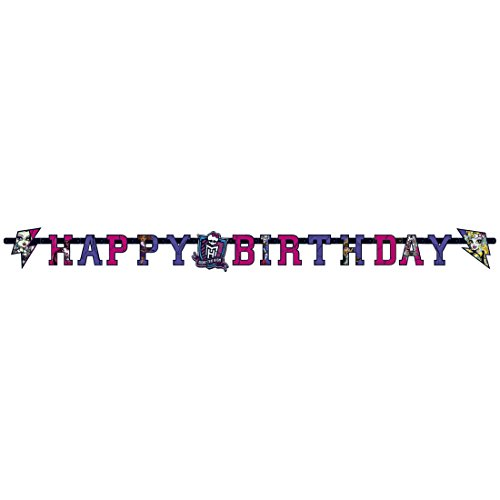 (Party Girlande Kinderparty Papiergirlande 1,8 m x 15 cm Kinder Partykette Monster High 2 Geburtstagsgirlande Partydekoration Geburtstag Mädchen Geburtstagskette Dekoration Mottoparty Banner Kette)