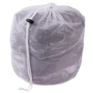 liltourist Wäschesack, Wäschenetz mit Zugkordel, Wäschebeutel für Dessous, Hemden, Socken und Baby Kleidung, Schmutzwäsche Netzbeutel für Waschmaschine - 2 Stück (weiß) - 2 Stück-hemd