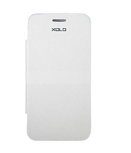 YGS Flip Case With Screen Guard For Xolo A500 Club (White)  available at amazon for Rs.199