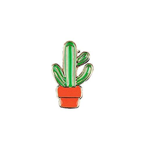 MJARTORIA novedad esmalte Pin Badge Cactus maceta