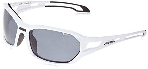 ALPINA Sonnenbrille Amition BERRYN P Outdoorsport-brille, White Matt-Black, One Size