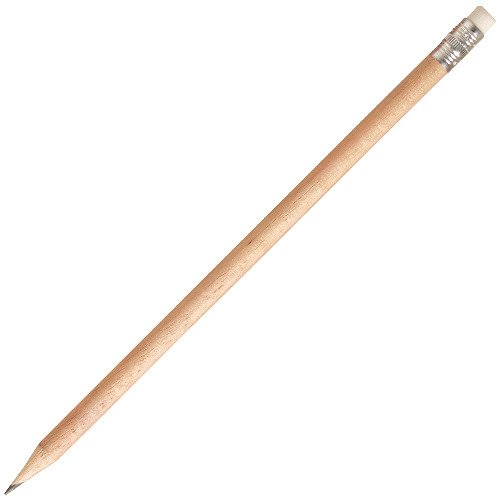 Bleistift rund mit Radiergummi