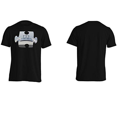 Puzzle pasticceria gusto ufficio meraviglioso Uomo T-shirt e489m Black
