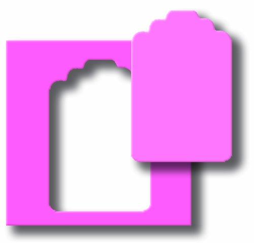 (efco Label, Pink, 2X Große, 57x 37mm)