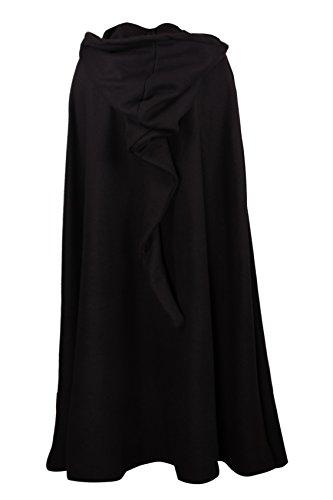 Mittelalterlicher Fleece Umhang – wärmend – schwarz L130 - 3
