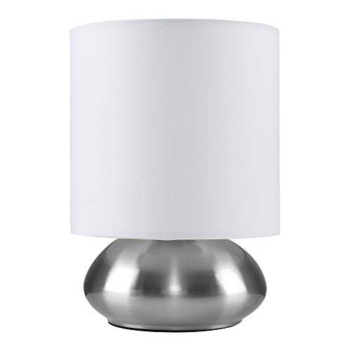 MiniSun – Elegante lámpara de mesa táctil 'Ayme' - moderna con pantalla blanca