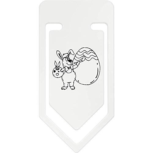 Azeeda 141mm 'Kaninchen Malerei Ei' Riesige Plastik Büroklammer (CC00041718)
