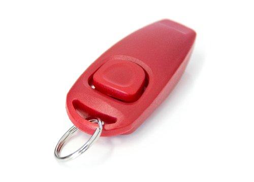 """""""2en1 clicker et chien sifflet"""" clicker chien sifflet de chien clicker formation de chien en rouge nouveau / marque PRECORN"""