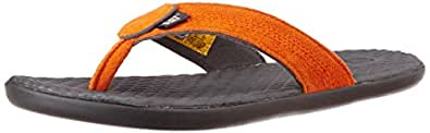 Cat Men's Cory Orangeat Leather Hawaii Thong Sandals - 11 UK