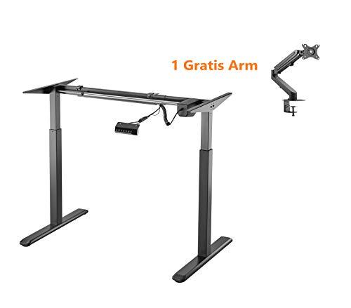 ALLDREI elektrisch stufenlos höhenverstellbarer Schreibtisch Mit Speicher-Steuerung und...