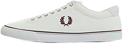 Fred Perry Underspin Canvas White Porto Sky Blue B9090100, Deportivas