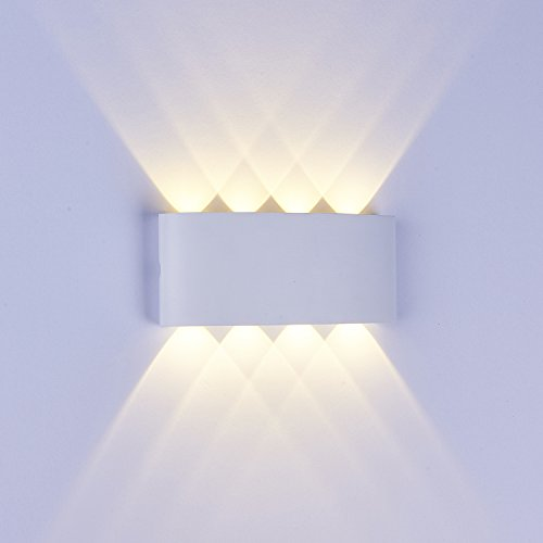 Topmo 8W LED Wandlampe Wasserdichte IP65 Wandbeleuchtung LED Außenwandleuchten (8W warmweiß)