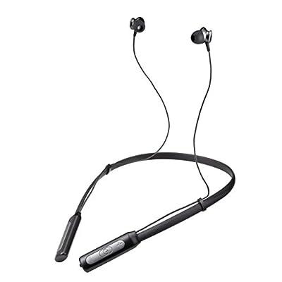 """Casque Bluetooth """"Neckband"""" de Gestop®, Écouteurs Magnétiques Flexibles et Légers, Idéal Sport Résistant à la sueur, Tour de Cou Stéréo Haute Qualité Compatible iPhone, iPad, iPod, MacBook Air, Samsung, HTC, Androïd Smartphones de LLB"""