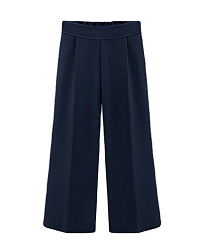 YiLianDa Damen Pluderhose Sommerhose Freizeithose Lockere Komfortabel Hose Blau 6XL