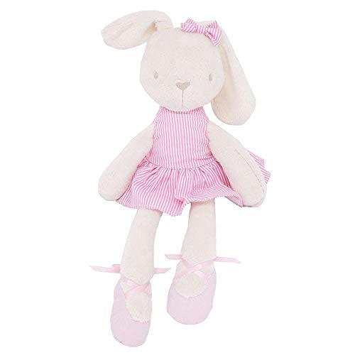 MRWJ Nette 45Cm Große Weiche Stofftier-Häschen-Spielzeug-Baby-Kind-Mädchen-Schlafen Füllte Spielwaren-Haustiere @ Pink_Stripe An Pink Tiger Stripe