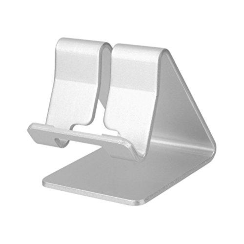 Galleria fotografica MagiDeal Cellulare Titolare Supporto Stand Universale In Alluminio Per iPhone Tablet iPad - Argento