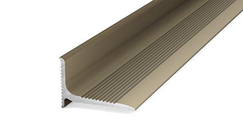Prinz Aluminium-Wandanschlussprofil - selbstklebend. Für Belagstärken ab 2 mm 100cm 20 x 13 mm - 1,00, Edelstahl Matt
