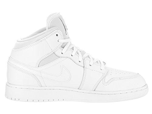 Nike  554725-110, espadrilles de basket-ball garçon weiss