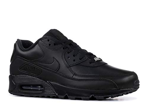 watch 00a32 01bb9 Nike Mens Air MAX 90 Black Leather Trainers 42.5 EU
