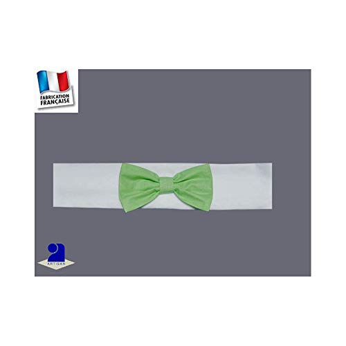 5699ccab2c3f0 Poussin Bleu - Bandeau cheveux noeud 0 mois-10 ans Made In France Taille -