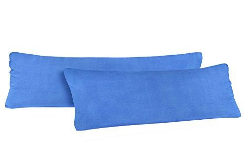 Natura Mark Confezione Doppia Federa per Cuscino Misura 40x 145cm per Chi Dorme sul Fianco, federe in 14Diversi Colori, 100% Cotone (Blu Royal)