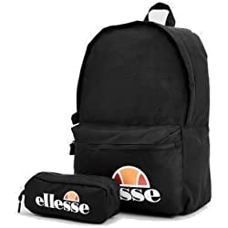 ellesse Rolby 0591 Backpack With Pencil Case Black