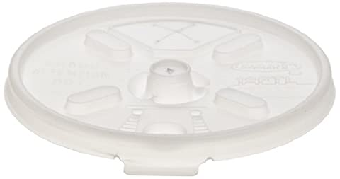 Dart 12FTLS Liftn'Lock Lids, 10-14oz Cups, Translucent, 100 Per Sleeve (Case of 10 Sleeves)