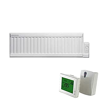 Adax ALO Low Level Oil Filled Electric Wall Mounted Radiator In Classic White. Traditional Style, 300mm High, Popular And Ideal For Conservatories. Radiant, Rapid Efficient Room Heat, Wireless Timer, 400W