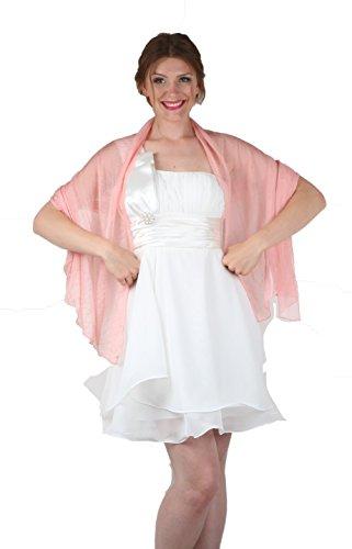 ROBLORA, châle en mousseline, étole, écharpe pour robe de soirée, de différentes couleurs, taille 35 x 170 cm Vieux Rose