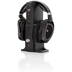 [Inalámbrico] Sennheiser RS 185 - Auriculares de diadema abiertos (control remoto integrado), negro