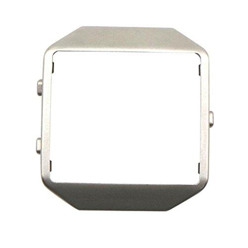 samLIKE Rahmen für Fitbit Blaze Smart Watch Luxusuhr aus Edelstahl Ersetzen Metall Frame 45mm x 45mm (⭐️ Silber)