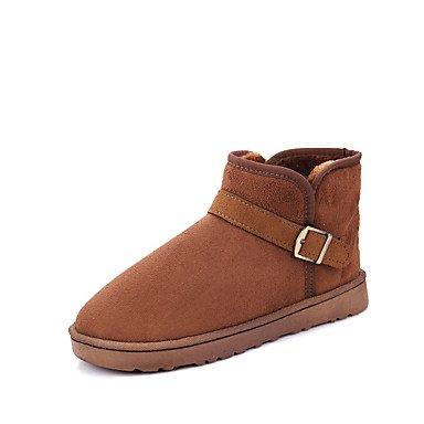 Rtry Femmes Chaussures Pu Automne Hiver Confort Bottes De Neige Bottes De Selle Bottes De Mode Bootie Lutte Bottes Légères Bottes Semelles Talons Plats Bout Fermé Us5.5 / Eu36 / Uk3.5 / Cn35