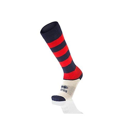 Errea zone calze calzettoni calcio calcetto rugby pallavolo blu rosso adulto