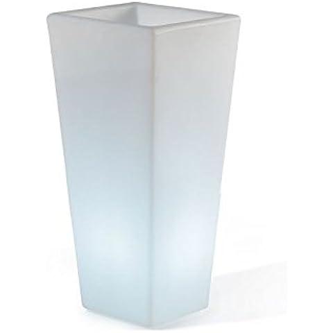 Vaso da esterno Slide Design Y-Pot in varie misure - Milky White, 41 x 41 x 74 H