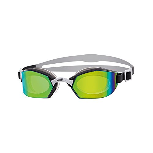 Zoggs Unisex-Adult Ultima Air Schwimmbrille, Black/Grey/Titanium/Mirror, One Size