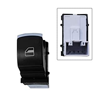 APDISTRIBUTION Schalter für Fensterheber, Chrom, vorne oder hinten, für Alhambra Caddy EOS Golf Jetta Passat Sirocco Tiguan Touareg Transporter T6 idem 5K0959855