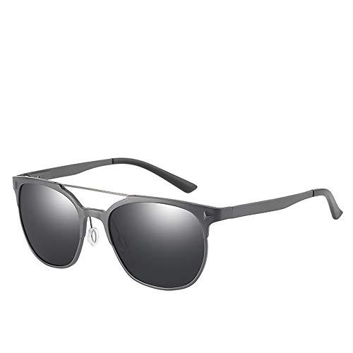 WULE-RYP Polarisierte Sonnenbrille mit UV-Schutz Herren Polarisierte Sonnenbrille Bunte Film Sonnenbrille Aluminium Magnesium Gläser Serie Angeln Spiegel Superleichtes Rahmen-Fischen, das Golf fährt