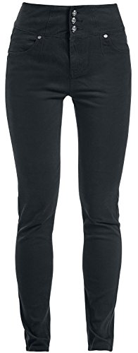 Rock Rebel by EMP High Waist Skarlett (Slim Fit) Pantaloni donna nero W30L32