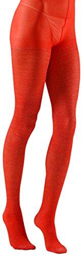 Widmann s.r.l. TIGHTS Red Glitter XL (Tänzerin Halloween Kostüme Ideen)