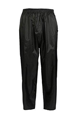Basics Herren Überjacke und -hose, Wasserdicht (2-teiliges Set) schwarz