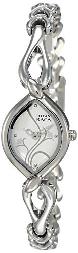 8. Titan Raga Analog White Dial Women's Watch
