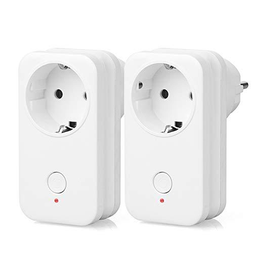 Yuanguo Enchufe Inteligente Wi-Fi Smart Socket, Control Remoto, Enchufe del Temporizador Funciona con Amazon Alexa, Google Assistant, IFTTT, Control de Voz para Encender Luces y Electrodomésticos