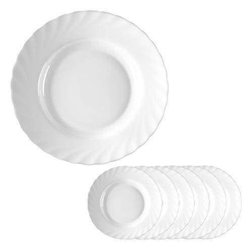 Esmeyer Trianon 441-034 Set de 6 bols à soupe en verre résistant Arcopal Blanc 22,5 cm