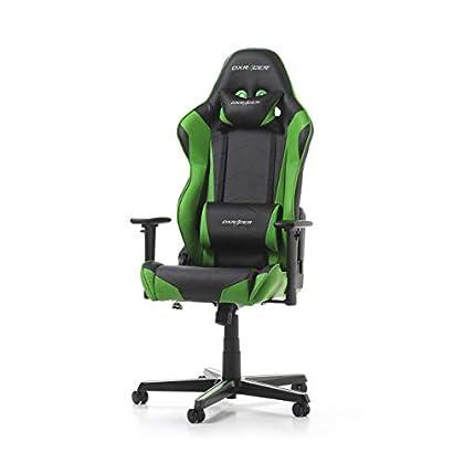 DXRacer Racing R0-NE - Silla para Gaming (Cuero sintético, 56 x 64 x 135 cm), Color Verde