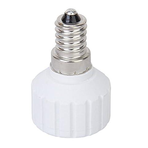 SODIAL(R) E14 zu GU10 Schrauben LED Gluehlampe Einfassungs Adapter Konverter